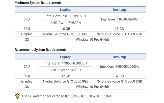 cara i500 System Requirements